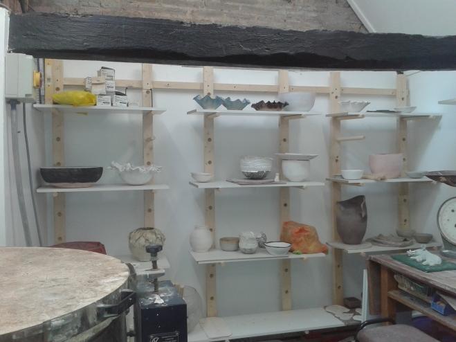 Studio with student pots